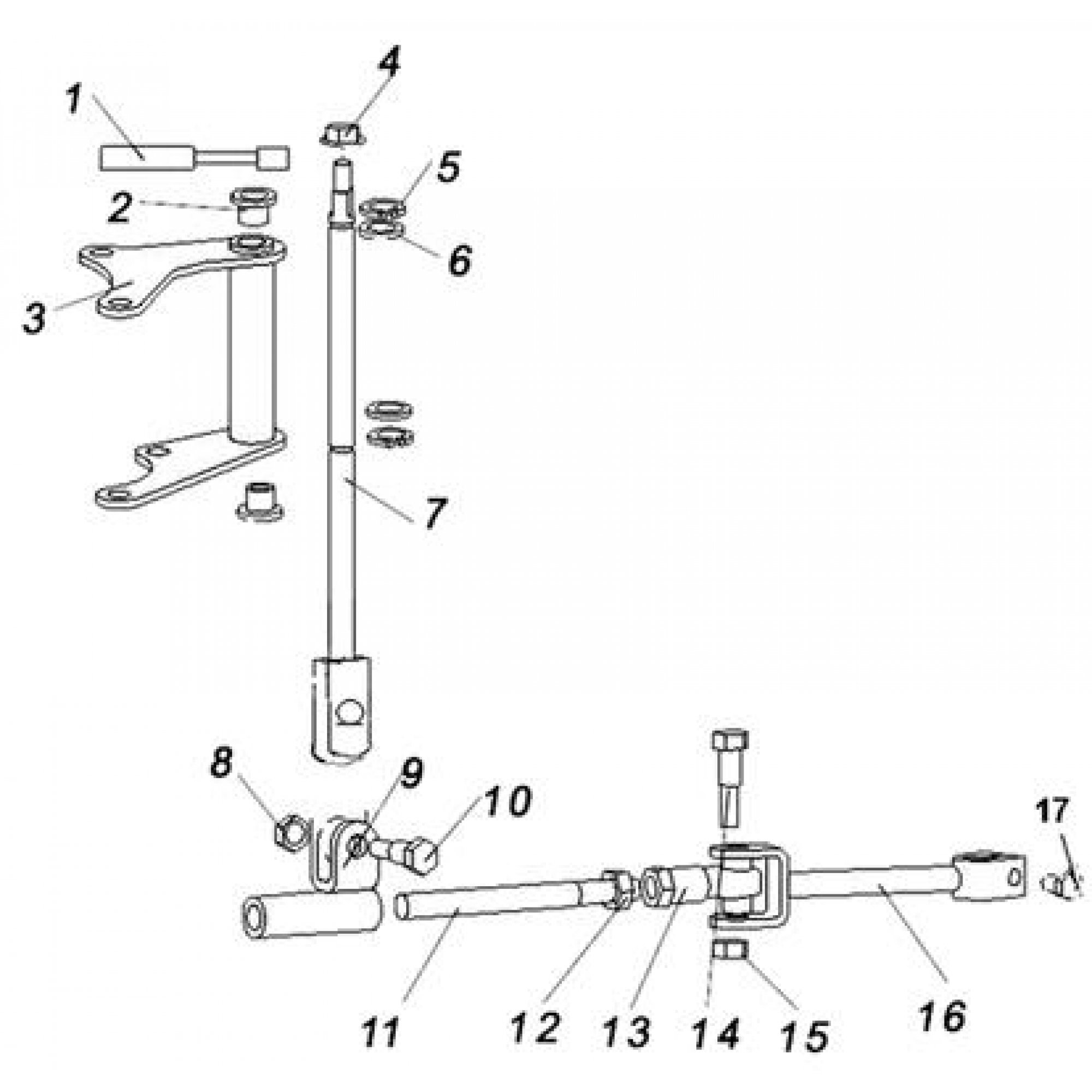4WD AND 2WD SHIFT LEVER ASSY