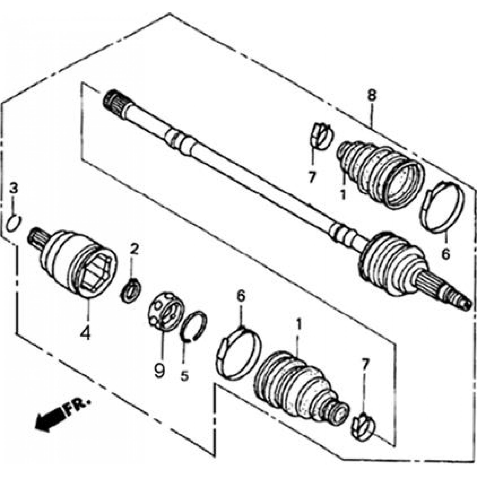 4WD FRONT DRIVE AXLE