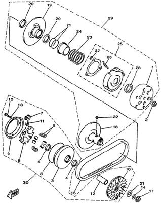 DRIVE PULLEY ASSY